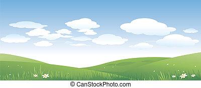 paisaje verde, naturaleza