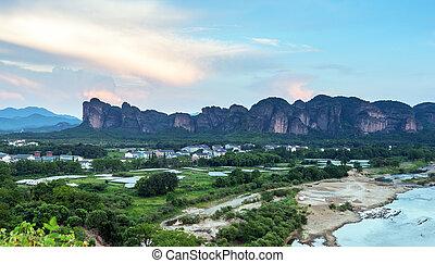 paisajes, chino, misterioso