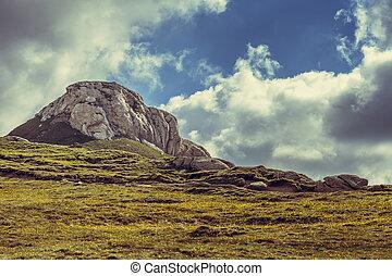 paisible, paysage montagne