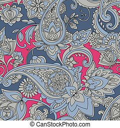 Paisley. A pattern based on the traditional textile figure...