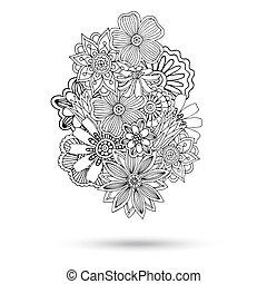 paisley, abstratos, henna, vetorial, mehndi, element.