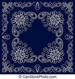 Paisley bandana- blue and white pattern