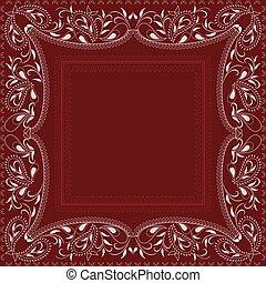 Paisley bandana- red and white pattern