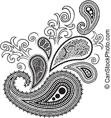 paisley design isolated on white background in vector format...