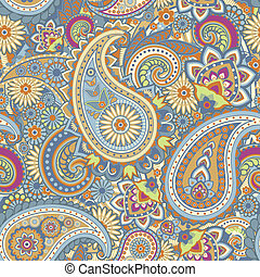 Paisley - Seamless pattern based on traditional Asian...
