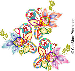 Paisley flower design