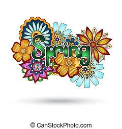 paisley, henné, vecteur, mehndi, floral, element.