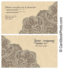 paisley lace coffee business card