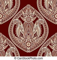 paisley, oriental, seamless, vecteur, fond, style