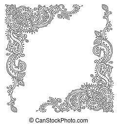 paisley., ornament., εθνικός