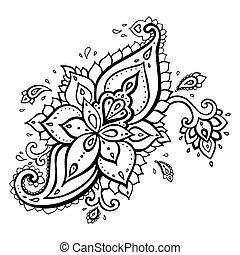 paisley., ornament., ethnique