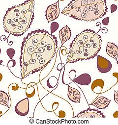 Paisley ornate seamless pastel pattern