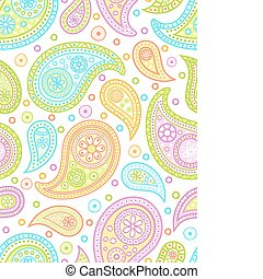paisley, pattern., coloré, seamless