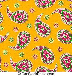 paisley, pattern., helder, seamless