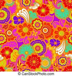Paisley seamless colorful pattern