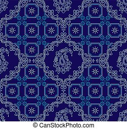 Paisley seamless damask wallpaper