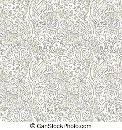 Paisley seamless lace pattern--model for design of gift...