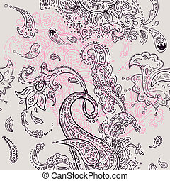 paisley, seamless, ornament, achtergrond