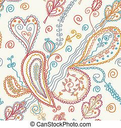 Paisley seamless ornate pattern