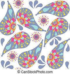 Paisley seamless pattern , vector