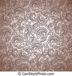Paisley seamless vector background
