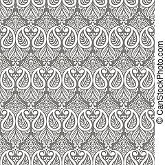 Paisley seamless vector wallpaper