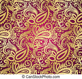 Paisley seamless wallpaper