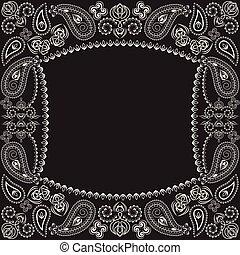 paisley, square., klasyk, druk, bandana, design-