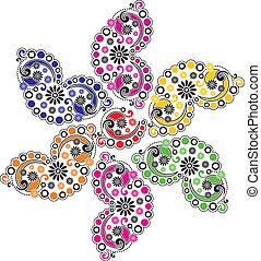 Paisley vector flower