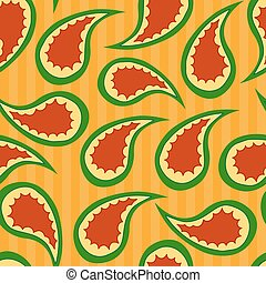 Paisley vector seamless pattern
