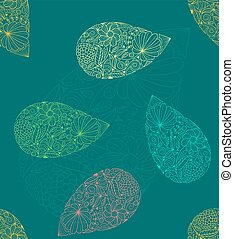 Paisley vector seamless pattern. Ethnic endless background.