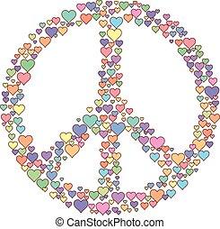 paix, amour, signe