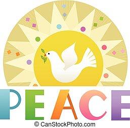 paix, art, agrafe
