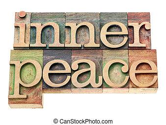 paix, bois, type, intérieur