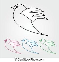paix, dove-, symbole