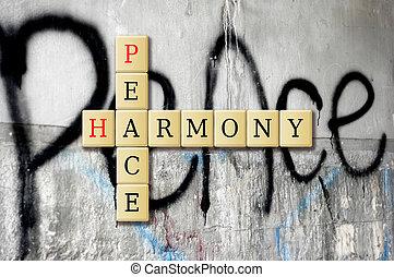 paix, harmonie