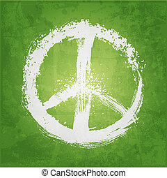 paix, illustration, signe