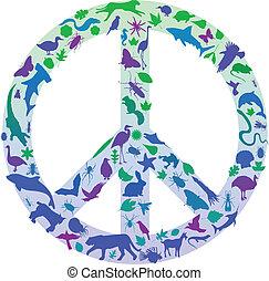 paix, nature, signe