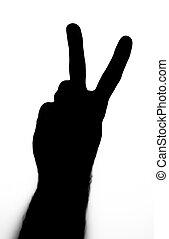 paix, noir, geste