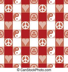 paix, rouges, plaid