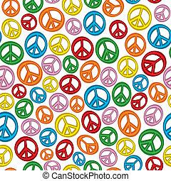 paix, seamless, signes