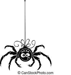 pająk, kontur
