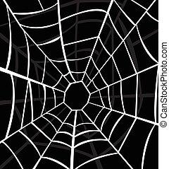 pajęczyna, ilustracja, wektor