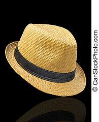 paja, sombrero de sombrero de fieltro