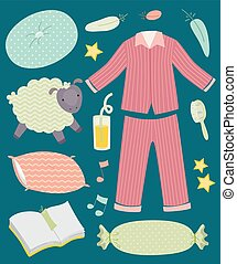 Pajama Party Elements Illustration
