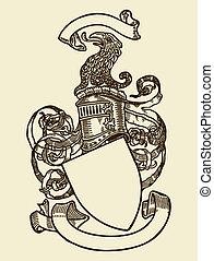 pajzs, címertan