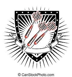 pajzs, darts