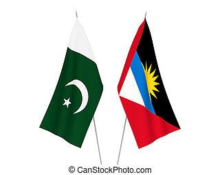 Pakistan and Antigua and Barbuda flags - National fabric ...