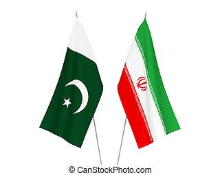 Pakistan and Iran flags - National fabric flags of Pakistan ...