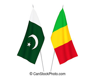 Pakistan and Mali flags - National fabric flags of Pakistan ...